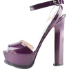 PRADA puprple patent leather heel - Sandals -