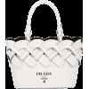 PRADA woven detail tote bag - Hand bag -