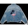 PRINTED DENIM JACKET PULL&BEAR - Jacket - coats -