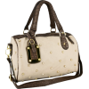 PRITA Studded Faux Crocodile Top Double Handle Doctor Style Bowler Shopper Tote Handbag Satchel Purse Shoulder Bag Cream - Torbice - $27.50  ~ 23.62€