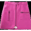 PU bag hip leather skirt - Skirts - $25.99