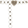 Paco Rabanne Silver-Tone Heart Link Belt - Belt -
