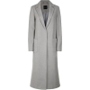 Pale Grey Bar Back Revere Collar Maxi Co - Jacket - coats -