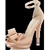 Pale Pink Bow Heel - Классическая обувь -
