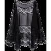 Pasa Boho Black Floral Lace Cardigan - Cardigan - $29.00