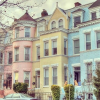 Pastel Houses - Background -
