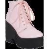 Pastel Pink Platform Boots - Čizme - $64.90  ~ 55.74€