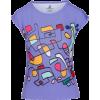 Pastel Mauve Abstract Print Hand Drawn S - T-shirt - $42.00  ~ 36.07€