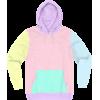 Pastel Multicolor Hoodie - Pullovers -