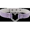 Pastel Purple Heart Choker - Necklaces -