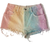 Pastel Rainbow Jean Shorts - Hlače - kratke -