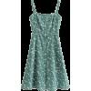 Pastoral Print Long Buttoned Strap Dress - Dresses - $29.99