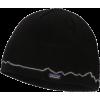 Patagonia Beanie Hat Fitz Roy Line Black - Hat - $29.00