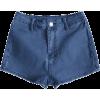 Patchwork Denim Shorts  - Shorts - $18.99