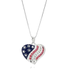 Patriotic Heart Necklace - Necklaces -