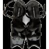 Paula Canovas Del Vas Black Faux-Leather - Sandals -