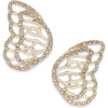 Pave Butterfly Wing Stud Earrings, Creat - Naušnice -