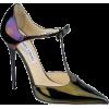 Pea Green and Purple Heels - Классическая обувь -