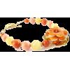 Peach Lamp work Glass Flower Bracelet  - Pulseiras - $35.00  ~ 30.06€