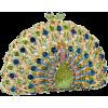 Peacock clutch - Torby z klamrą -