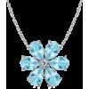Pear Aquamarine Flower Pendant - Halsketten - $769.00  ~ 660.48€