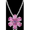 Pear Pink Sapphire Pendant - Necklaces - $809.00