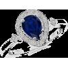 Pear Sapphire Engagement Ring - Pierścionki - $1,049.00  ~ 900.97€
