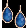 Pear Shaped Sapphire Earrings - Aretes -