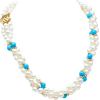 Pearl & Turquoise multi-strand - Collares -