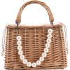 Pearl Basket Top Handle Bag - Hand bag -
