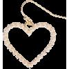 Pearl Heart Drop Earring - 耳环 -