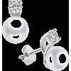 Pearl zirconia silver earrings - Naušnice -