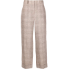 Peserico Checked Wide Linen Trousers - Capri & Cropped -