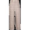 Peserico Checked Wide Linen Trousers - Capri hlače -