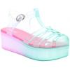 Pink & Seafoam T-Strap Jellies - Platformke -