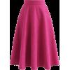 Pink Midi Skirt - Skirts -