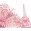 Pink Paris Eiffel Tower Prints - Buildings -