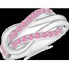 Pink Sapphire Love Knot Ring - Pierścionki - $179.00  ~ 153.74€