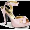 Pink Satin Ankle Strap Platform Sandal - 7 - Sandale - $42.50  ~ 269,98kn