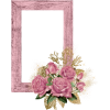 Pink Wood Frame With Roses And Gold - Frames -