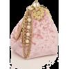 Pink Embellished Clutch - Venu - バッグ クラッチバッグ -
