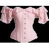 Pink Cotton Corset Top. - Camisas sem manga -