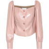 Pink Faux Leather Button Top - Other -