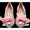 Pink Flats - Ballerina Schuhe -
