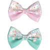 Pink & Mint Icing Sprinkles Hair Bow - Other jewelry -