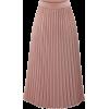 Pink Pleated Chiffon Elastic Waist skirt - Skirts -