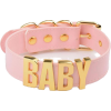 Pink Pleather Baby Choker - Necklaces -