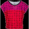 Pink Red Polka Dot Box Cut Flowy Tee - T-shirt - $46.00  ~ 39.51€