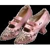 Pink Satin Flapper Shoes - Classic shoes & Pumps -