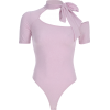 Pink Siamese Top Bow with Irregular Neck - Overall - $25.99